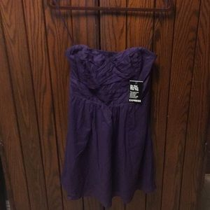 NWT express strapless mini dress size 6